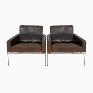 Vintage Model 3300 Lounge Chairs by Arne Jacobsen for Fritz Hansen, Set of 2