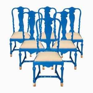 Vintage Chairs by Jean Claude Mahey, Set of 6