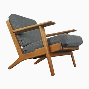 Mid-Century Danish GE-290 Oak Framed Armchair by Hans J. Wegner for Getama