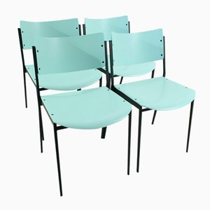 Vintage Pastel Mint Chairs, Set of 4