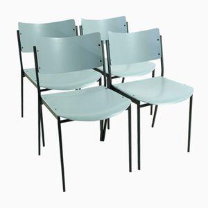 Graue Vintage Stühle, 4er Set