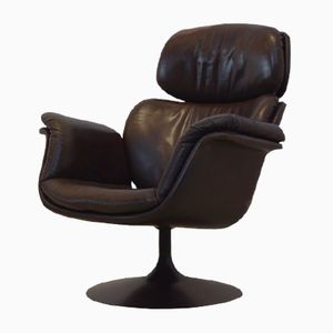 Dutch Original F545 Leather Big Tulip Chair by Pierre Paulin for Artifort Holland, 1970s