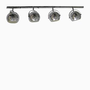 Lampada da soffitto vintage placcata in cromo, Belgio