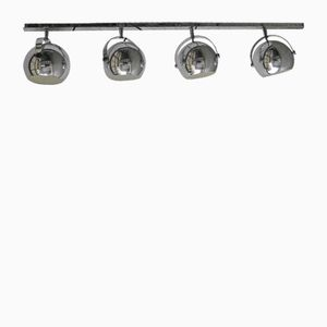 Verchromte Belgische Vintage Deckenlampe