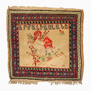 Antique Armenian Handmade Wedding Rug, 1900s