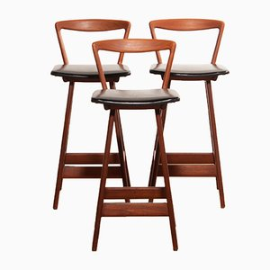 Bar Stools by Henry Rosengren Hansen for Brande Møbelindustri, 1960s, Set of 3