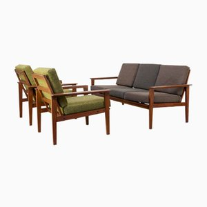 Teak Frame Living Room Set, 1960s
