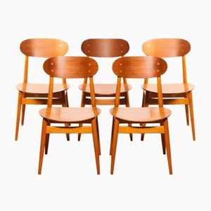 Dining Chairs by Alf Svensson for Hogafors, 1950s, Set of 5