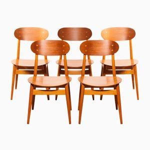 Esszimmerstühle von Alf Svensson für Hogafors, 1950er, 5er Set
