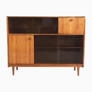 Teak Book Case with Sliding Glass Doors from Nathan, 1960s