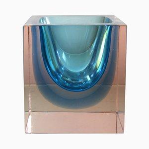 Vaso in vetro di Murano di Alessandro Mandruzzato, anni '60
