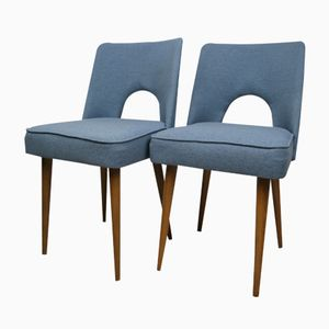 Blue Polish Shell Chairs, 1960s, Set of 2