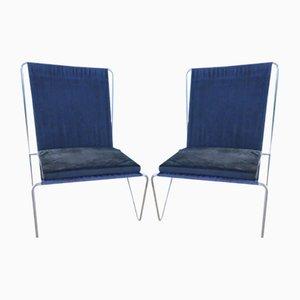 Dänische Bachelor Stühle von Verner Panton für Fritz Hansen, 1955, 2er Set