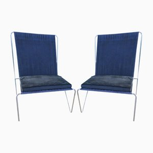 Danish Bachelor Chairs by Verner Panton for Fritz Hansen, 1955, Set of 2
