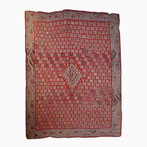 Antiker Handgefertigter Türkischer Oushak Kilim Teppich, 1880er