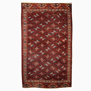 Antique Turkmen Yomud Handmade Rug, 1880s