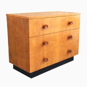 British Teak Chest of Drawers with Black Base, 1970s