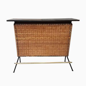 Mobile bar Mid-Century in canna