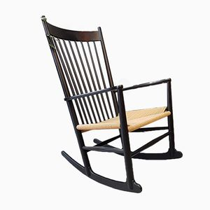 Rocking Chair J16 Vintage par Hans J.Wegner pour FDB, Danemark, 1976
