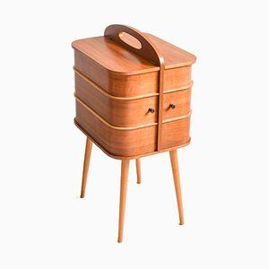 Vintage Teak Sewing Box, 1960s