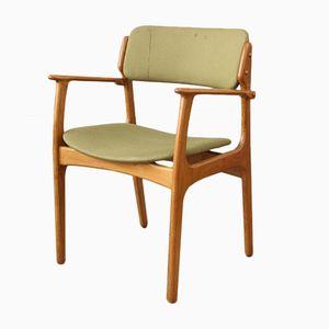 Sedia modello nr. 50 vintage in quercia di Erik Buch per O.D. Mobler AS, anni '60