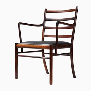 Vintage Rosewood Model PJ-3011 Colonial Armchair by Ole Wanscher for Poul Jeppesen