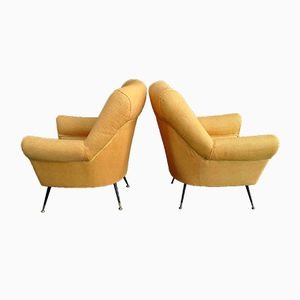 Vintage Italian Armchairs by Minotti, 1950s, Set of 2