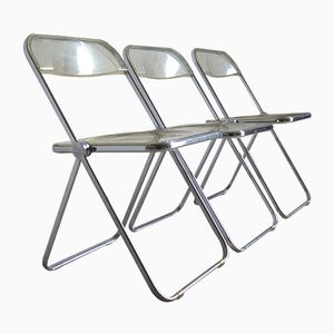 Plia Chairs by Giancarlo Piretti for Castelli, 1960s, Set of 3