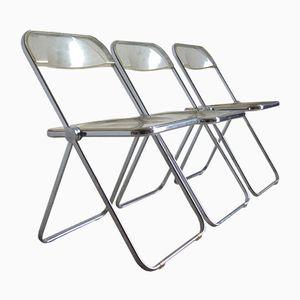 Plia Stühle von Giancarlo Piretti für Castelli, 1960er, 3er Set