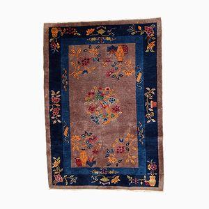 Hangefertigter Chinesischer Art Deco Teppich, 1920er