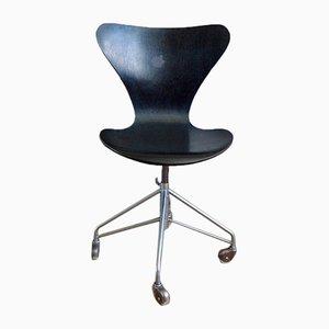 Sedia da ufficio 3117 serie 7 di Arne Jacobsen per Fritz Hansen, 1970