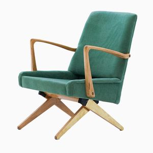 Mid-Century Sessel aus Samt & Messing, 1950er