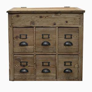 Vintage French Workshop Cabinet