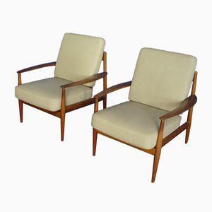 Teak Stühle von Grete Jalk für France & Daverkosen, 1950er, 2er Set