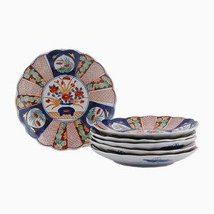 Small Antique Imari Plates, Set of 6