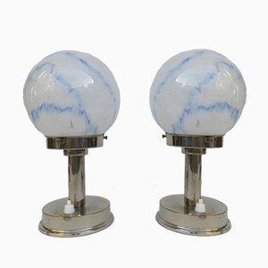 Kleine Vintage Art Deco Tischlampen von FM, 2er Set
