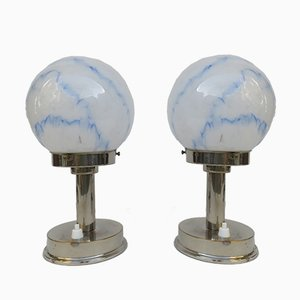 Vintage Small Art Deco Table Lamps from FM, Set of 2