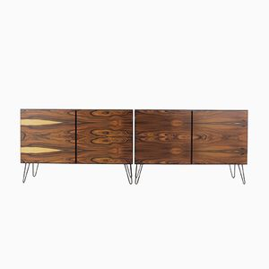 Palisander Sideboards auf Hairpin Legs, 1960er, 2er Set