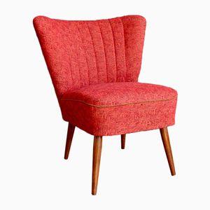 Sedia da cocktail rossa, anni '60