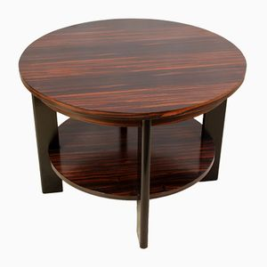 Art Deco Macassar Ebony Coffee Table, 1930s