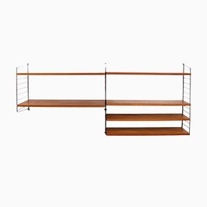 Swedish Teak Shelf by Nisse Strinning for String, 1960s