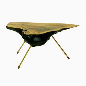 Tavolo realizzato da un tronco di Carl Auböck, Austria, anni '50