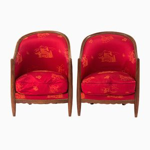 Art Déco Bergère Armchairs, 1928, Set of 2