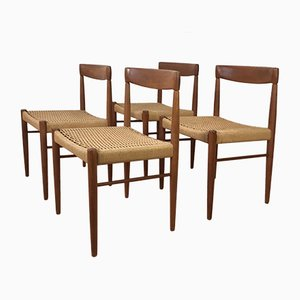 Danish Chairs by H.W. Klein for Bramin, 1960s, Set of 4