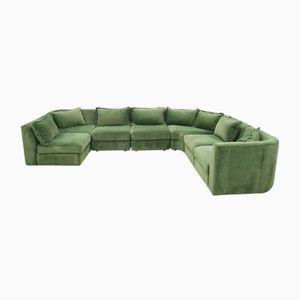 Divano modulare vintage verde di Rolf Benz