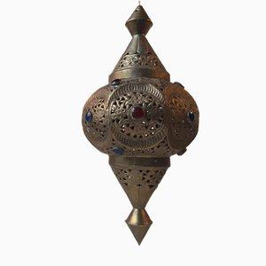 Mid-Century Moroccan Shehrazad Brass Pendant Light