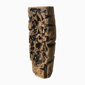 Vaso brutalista in ceramica, anni '70
