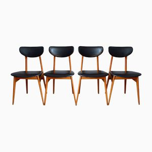 Chaises Modernistes Mid-Century, France, Set de 4