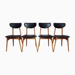 Französische Modern Mid-Century Stühle, 4er Set