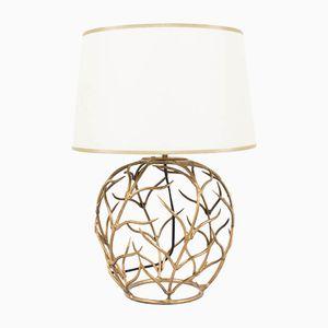 Gold Metal Lamp, 1950s